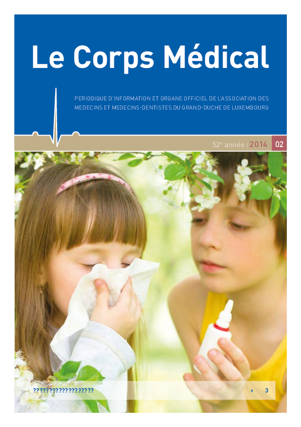 LE CORPS MEDICAL 02/2014 Agence Luxembourgeoise Antidopage