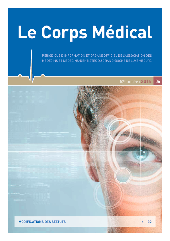 LE CORPS MEDICAL 06/2014 Modification Des Statuts