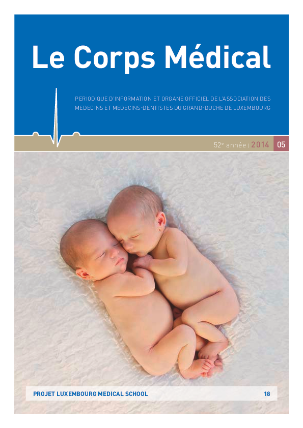 LE CORPS MEDICAL 05/2014 Projet Luxembourg Medical School